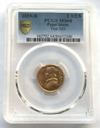 Papal States Vatican 1854 Plus Ix 2.5 Scudo Pcgs Ms64 Gold Coinrare