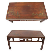 Antique Springfield Furniture Works Asian Oriental Painted Wood Coffee Table