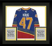 Frmd Torey Krug St. Louis Blues Signed Blue 90and039s Retro Authentic Jersey - 21/21