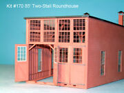 American Model Builders 170 Laser Art Two Stall Roundhouse Ho Scale Kit
