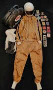Vintage 1960s Le Mans Full Racing Suit Bell Helmet Bag And Patches Must See Rare