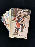 Lot Of 14 Different New York Rangers Nhl Hockey Media Guides-1968-1981