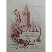 Soiled Frederic One / An Party To Seville Singer Piano Sheet Music Score