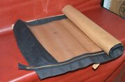 Vtg 1965-66 Ford Mustang Convertible Top Rear Curtain Window Only Black Cloth