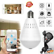 Security Camera Lamp 360 Degree Led Light 960p Wireless Panoramic Home Security