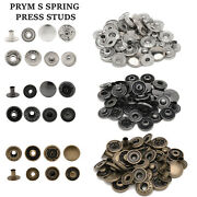 15mm Brass Poppers Snap Fasteners Prym S Spring Press Stud 15mm Sewing Clothes
