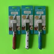 Pioneer Woman Paring Knives - Red, Teal, Linen Lot - Red White Blue Set Of 3