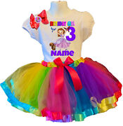 Sofia The First Shirt Name Birthday Party 3rd 3 Personalized Rainbow Tutu Dress