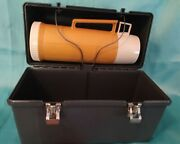 Vintage Thermos Brand Gray Plastic Lunch Box Pail Bucket, Gold Hot/cold Thermos