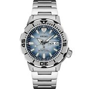 New Seiko Prospex Ocean Frost Monster Special Edition Steel Watch Srpg57
