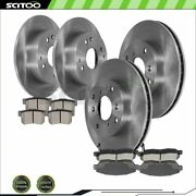 Front And Rear Brake Rotors Ceramic Pads For Acura Cl 2.3l Honda Accord 2.3l