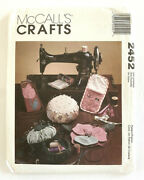 Mccalls Crafts Pattern 2452 Sewing Needlework Accessories Chatelaine Caddy Uncut
