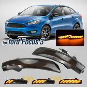 2x Mirror Led Sequential Dynamic Turn Signal Light For Ford Focus Mk3 Kuga C-max
