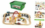 33097 Deluxe Set   54 Piece Train Toy With Accessories And Cargo Railway