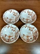 Vintage Butter Pats Quail Furnivals 1913 Fine China Made In England Lotb Of 4