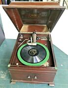 Victor Talking Machine Co. Victrola Record Player Antique Vv-ixa 1904 - Works