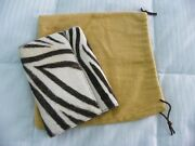 Wallet From Milan Italy W/cloth Keeperandnbspzebra Hair Oversized Womenand039s