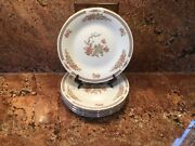 5-liling-fine China - Salad Plates- Rose And Butterfly Pattern