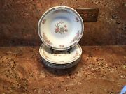5 - Liling - Fine China - Soup Bowls - Rose And Butterfly Pattern