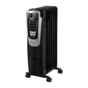 Pelonis Electric 1500w Oil Filled Radiator Heater With Safety Protection, Led 3