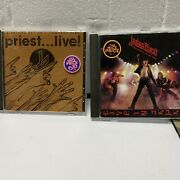 Judas Priest 2 Cd Lot Priest Live And Unleashed In The East Live In Japan