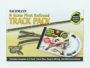 N Scale Bachmann 44896 First Railroad Track Pack - 47 Pieces W/dvd Instructions