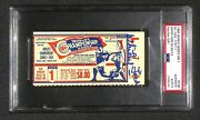 1964 World Series Game 1 Ticket Whitey Ford Signed Psa 9 Ws Record 94 Kand039s