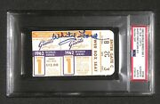 1962 World Series Game 1 Ticket Signed Whitey Ford 10x Ws Win Mlb Record Psa 9