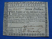 Ultra Rare Constitution Signer 1780 New Jersey Signed Colonial Currency Note Au+