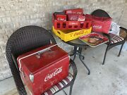 Vintage Coca Cola Metal Cooler + Plus Many Other Coke Brand Items Local Pickup