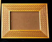 Wooden Picture Frames, 6 3/4 X 8 3/4 Engraved Snowflake Pattern, 3 Available
