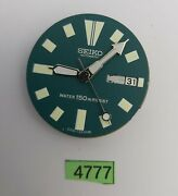 Used Seiko Movement Aftermarket Green Dial And Hands 6309 7290 Watch Bvt04777