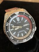 Iconic Awesome Seiko Skx Black Bullet Skxa53 7s26 Skx-02k0 Automatic Diver Watch