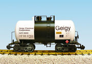 Usa Trains R15215 G Geigy Chemical Corp. Beer Can Tank Car White, Black