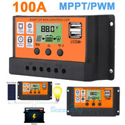 30-100a Mppt/pwm Solar Panel Regulator Charge Controller Auto Focus Tracking 12v