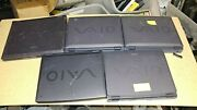 Lot Of 5 Vintage Sony Vaio Laptops For Parts Repai Pcg F160 Pcg-953a Pcg-f390