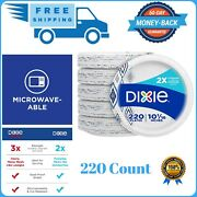 10 Paper Plates Bulk 220 Count Recyclable Heavy Duty Coated Nice Strong Holiday