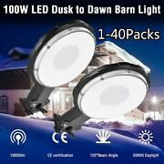 Outdoor Security 100w 1000lm Led Yard Light Dusk To Dawn Photocell Area Lighting