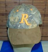 Remington - Camouflage Camo Hat Hunting - Embroidered Orange Logo - Outdoor Hat