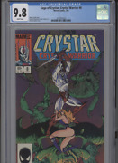 Saga Of Crystar Crystal Warrior 8 Mt 9.8 Cgc White Pages Golden Cover Jo Duffy
