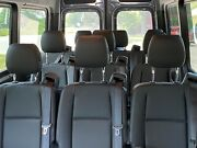Brand New, Black Leather Mercedes Sprinter 3 Seater Bench Seat.