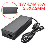 5.5x2.5mm Dc 19v 90w Universal Ac Adapter Power Supply Charger For Asus Laptop