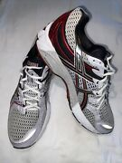 Asics Gel Kayano 16 Mens 11 White/silver/black/red Excellent Condition Classic