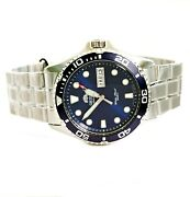 Orient Men's Watch Ray Raven Ii Automatic Faa02005d9 Diver's 20 Atm Ip Silver