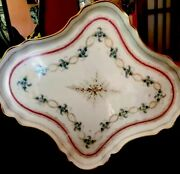 Beautiful Antique 19th Century Russian Imperial Porcelain Platter By Kornilov