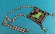 Collectible Vintage Native American Hand Beaded Horse Bag Purse