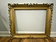 Vintage Ornate Gold Tone Wood Gesso Picture Frame 21 X 25 Fits 16 X 20