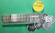 2000 S Proof Silver Dimes 50 Coins Roosevelt 10c Roll 90 Silver Ten Cent Roll