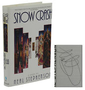 Signed Snow Crash Neal Stephenson First Edition Advance Uncorrected Proof 1992