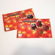 Lego Minecraft Micro World The Nether 21106 Instructions Only 2 Books